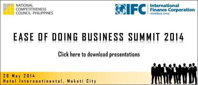 Ease of Doing Business Summit 2014 Presentations