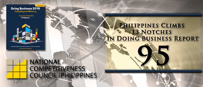 Philippines Climbs 13 Notches in Doing Business Report