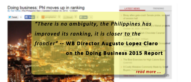 Doing business: Phl moves up in ranking