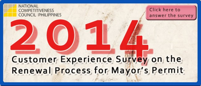 2014 Customer Experience Survey on the Renewal Process for Mayor's Permit
