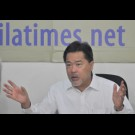 NCC co-Chairman Guillermo Luz during a roundtable with The Manila Times.
