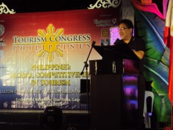Guillermo M. Luz, NCC Co-Chairman delivering his presentation on how to build a competitive Philippines during the Tourism Congress